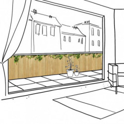 GREEN WOOD privacy screen