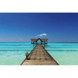 Papier peint mer turquoise à Bora Bora