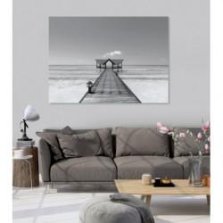 Cuadro marino en blanco y negro con trampantojo
