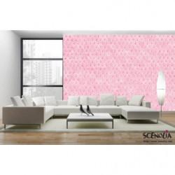 Papel pintado acolchado rosa
