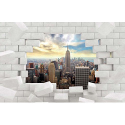Papier peint trompe l'oeil Manhattan style industriel
