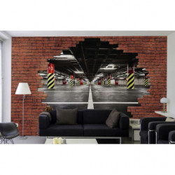 Industrial trompe l'oeil wallpaper