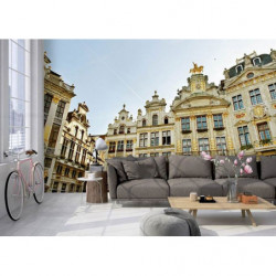 Panoramic wallpaper photo of the Grand Place in Brussels
