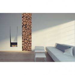 Tenture murale rondins de bois empilés