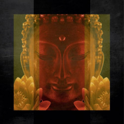 Tableau zen statue de Buddha