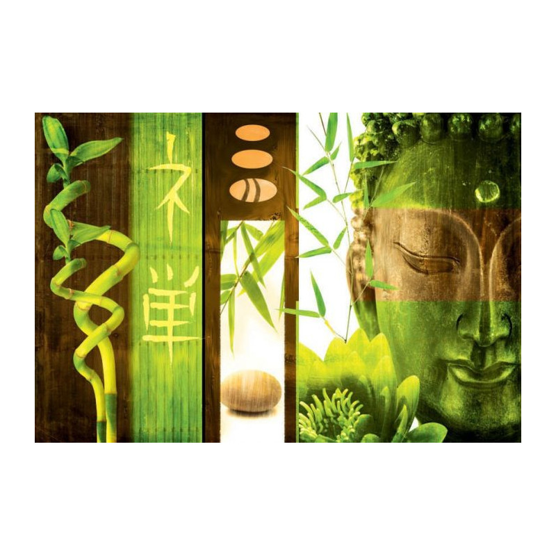 Tableau Buddha vert