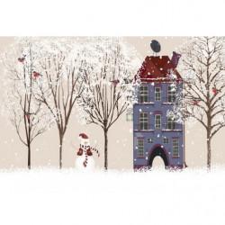 Christmas poster winter design