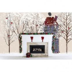 Poster Noël dessin d'hiver