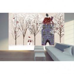 Póster de Navidad diseño de invierno