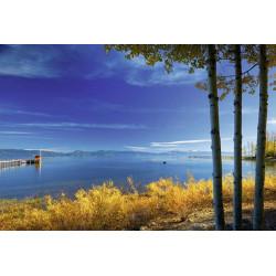 Blue lake landscape wallpaper
