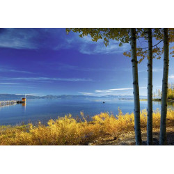 Papel pintado Paisaje del lago azul