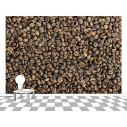 Coffee bean photo wallpaper for shop decoration