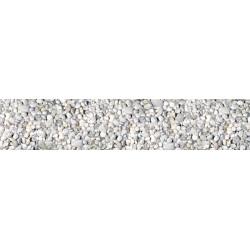 Brise vue imprimé cailloux gris et blancs