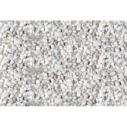 Poster with white and grey pebbles