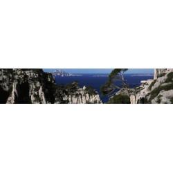 Brise vue calanques en Provence : paysage déco murale extérieure