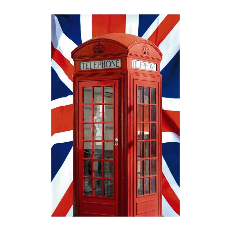 Papier peint union jack et cabine de t l phone londres - Deco chambre angleterre ...