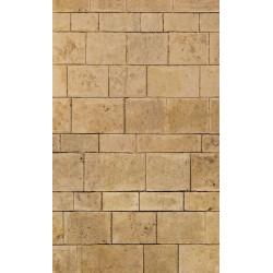 Brise vue trompe l'oeil mur de pierre beige