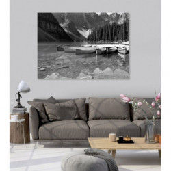 Pintura de paisaje Canadá en blanco y negro