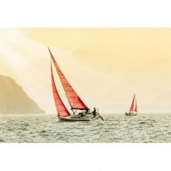 Papier peint bateau en Corse