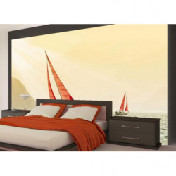 Wallpaper boat in Corsica