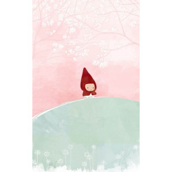 Children's wallpaper drawing Little Red Riding Hood