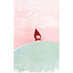 Papel pintado infantil dibujo Caperucita Roja