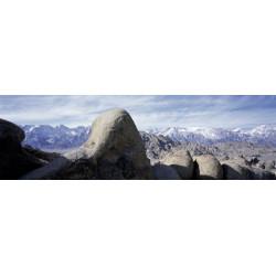 Cuadro panorámico montaña desierta