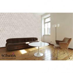 White capiton trompe l'oeil wallpaper