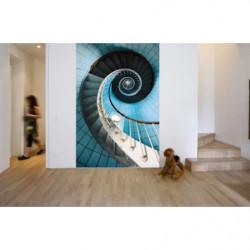 Tenture murale escaliers en trompe l'oeil