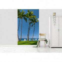 IN THE SHADE OF THE PALM TREES wall hanging