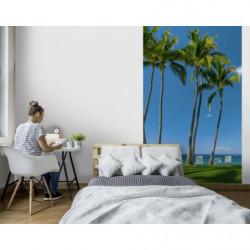 Tenture palmiers en bord de mer