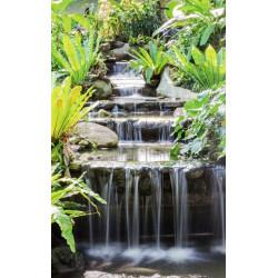 Papier peint nature zen cascade et végétation
