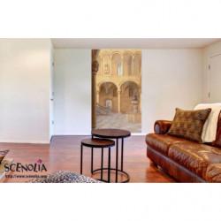 Tenture murale trompe l'oeil décor de la Dolce vita