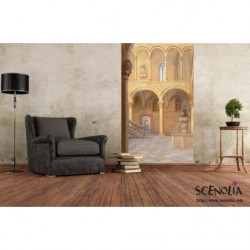 Wallpaper trompe l'oeil columns