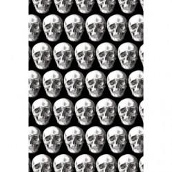 Papier peint têtes de mort noir et blanc