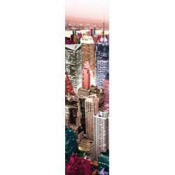 Lé de papier peint New York coloré