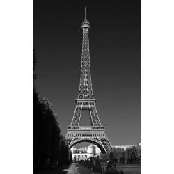 Tenture suspendue Tour Eiffel à Paris noir et blanc
