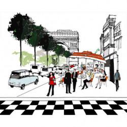 Poster illustration des Champs Elysées à Paris