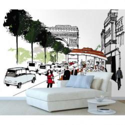 Papier peint Champs Elysées Paris