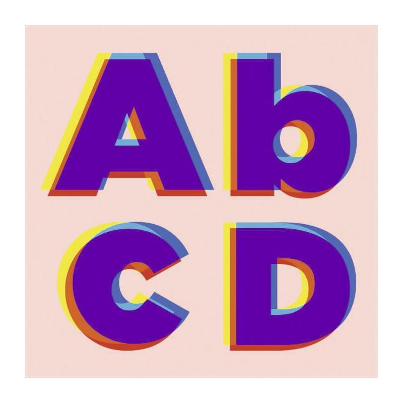 Cuadro en lienzo ABCD