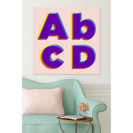 ABCD canvas print
