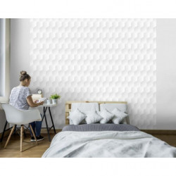 3D poster with honeycomb pattern