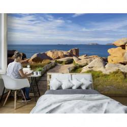 Poster panoramique plage des rochers