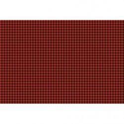 Papel pintado de cuadros rojos y negros