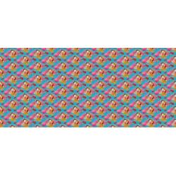 Papier peint motifs colorés chinoiseries