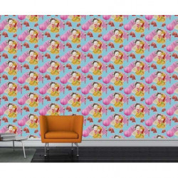 Colourful chinoiserie wallpaper