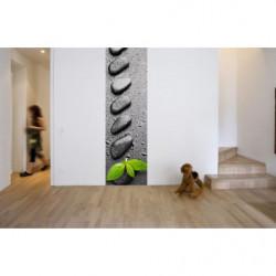 Papel pintado zen de guijarros grises