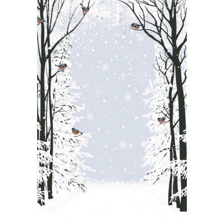 Tenture suspendue CHRISTMAS BIRDS