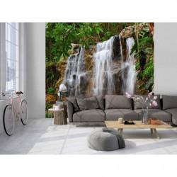 Papier peint panoramique nature cascade