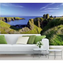 Papier peint paysage d'Ecosse : falaises en bord de mer